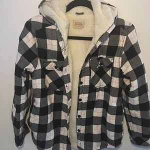 Fully Sherpa Lined Plaid Jacket